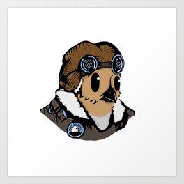 Sergeant Fluff n Feathers Art Print