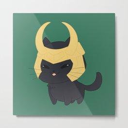 Loki Cat Metal Print