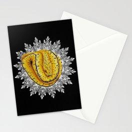 "Yellow ""Biak"" Snake Mandala Stationery Cards"