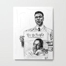 We the People Metal Print