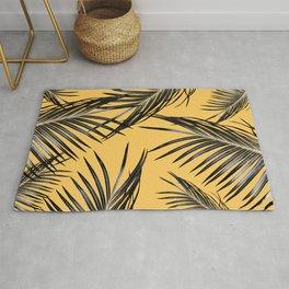 Black Palm Leaves Dream #6 #tropical #decor #art #society6 Rug