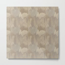 Vintage Abstract Texture in Caramel Tans and Beige Metal Print