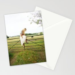 Sitting and waiting Stationery Cards