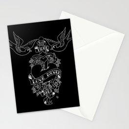 True Love Never Dies (Black) Stationery Cards