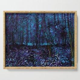 Van Gogh Trees & Underwood Indigo Turquoise Serving Tray