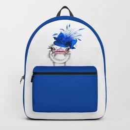 An elegant ostrich Backpack