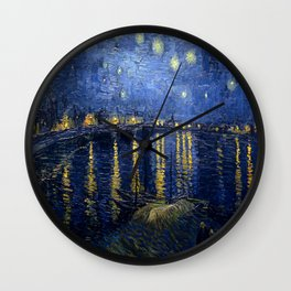 Vincent van Gogh's Starry Night Over the Rhone Wall Clock