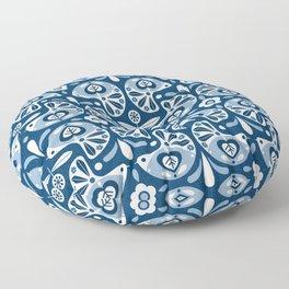 Pigeons - Swedish Modern Folk Art Floor Pillow