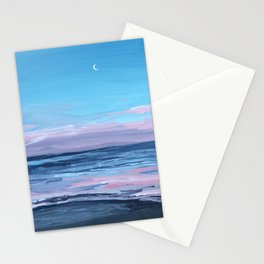 Pastel Beach Sunset Stationery Cards