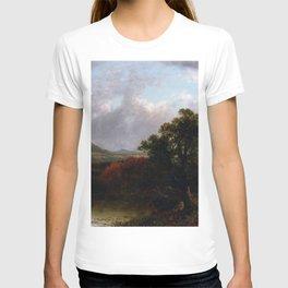 Passing Storm Clouds 1869 By David Johnson | Reproduction | Romanticism Landscape Painter T-shirt