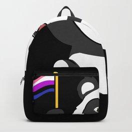 Panda With Genderfluid Flag Genderfluid Pride Gift Backpack