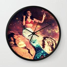 Vintage Mermaid Sparkle :  Mr Peabody & The Mermaid Wall Clock