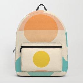 Abstraction_SUN_MOON_SHAPE_POP_ART_Minimalism_018AA Backpack