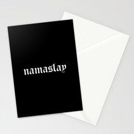 namaslay. / black Stationery Cards