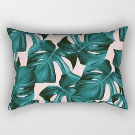 Tropical Monstera Leaves Pattern #1 #foliage #decor #art #society6 Rectangular Pillow