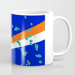 Marshall Islands Flag with Marshallese Map Coffee Mug