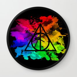 Rainbow Hallows  Wall Clock