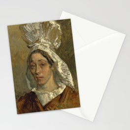 """Jean-François Millet """"Portrait of a Woman, probably the Artist's Sister"""" Stationery Cards"""