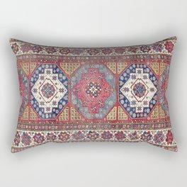 Shahsavan Azerbaijan Antique Tribal Persian Rug Print Rectangular Pillow