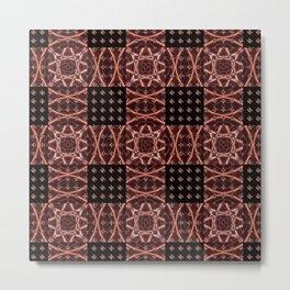Ultra HDR Geometric Weave Metal Print