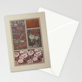 Verneuil - Japanese paper and fabric designs (1913) - 72: Flowers & birds; chrysanthemums Stationery Cards