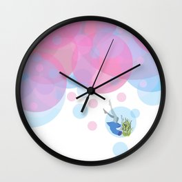 Falling Out Of Sleep Wall Clock