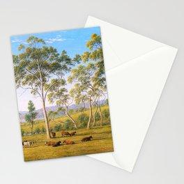 Mr Robinson's House On The Derwent, Van Diemen's Land -  John Glover Stationery Cards