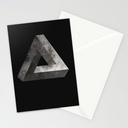 Penrose Triangle Moon Stationery Cards