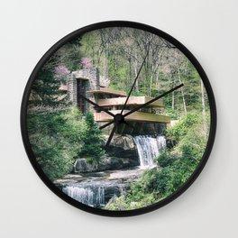 Fallingwater Wall Clock