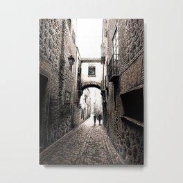 Romantic alley walk Metal Print