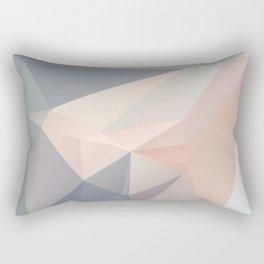Dora 1 — Poster, scandinavian, art, art print, geometric, pastel, low poly, art pastel, drawings Rectangular Pillow