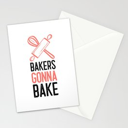 Baking Show Baker Bakery Hobby Baked Gift Stationery Cards