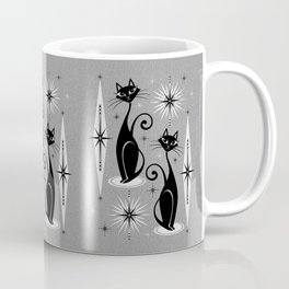 Mid Century Meow Atomic Cats on Cool Gray ©studioxtine Coffee Mug