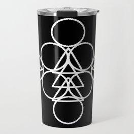 Unique Sacred Geometry Piece Travel Mug