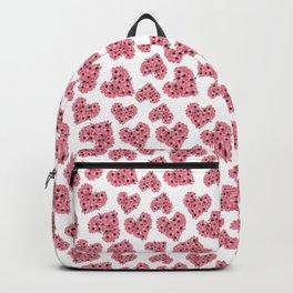 Pink Gazania Floral Heart Pattern Backpack