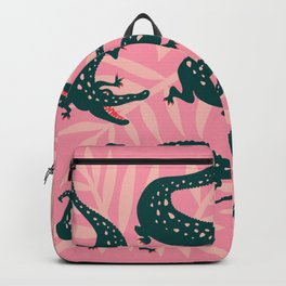 Alligator Collection – Pink & Teal Backpack