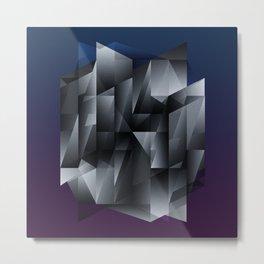 Geometric Construct Edit Metal Print