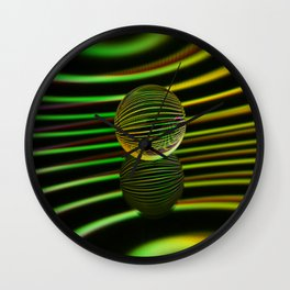 Floating glass ball abstract. Wall Clock