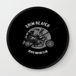 Motorcycle Motorcycle Helmet Biker Chopper Bikes Wall Clock