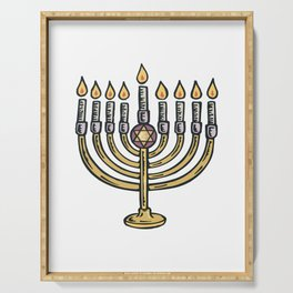 Shalom Star of David Hebrew Jews Judaism Jew Serving Tray