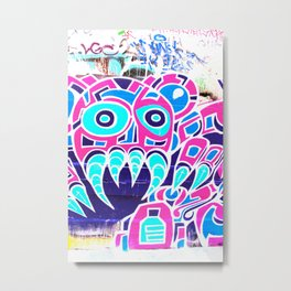 Angry Octupus - Graffiti - Street Art Metal Print