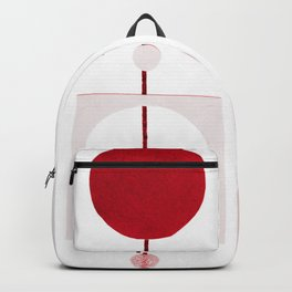 Xmas garlands in red Backpack