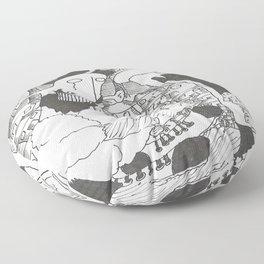 Posting A Letter Floor Pillow