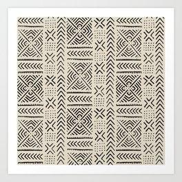 Line Mud Cloth // Bone Art Print