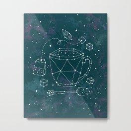 Tea Time Constellation Metal Print