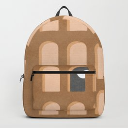Scandinavian home decor arch windows night and day Backpack
