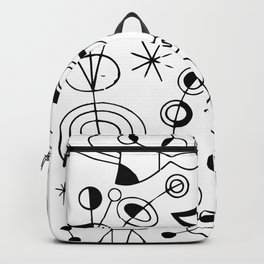 Joan Miro Peces De Colores (Colorful Fish) T Shirt, Artwork Reproduction Backpack