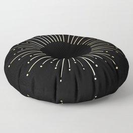 Mod Sunburst Gold 1 Floor Pillow