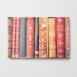 Classic bookshelf Metal Print