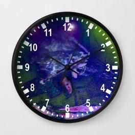 in to the night sky Wall Clock